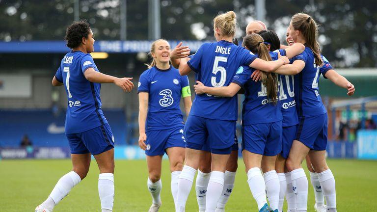 AP - Chelsea Women celebrate