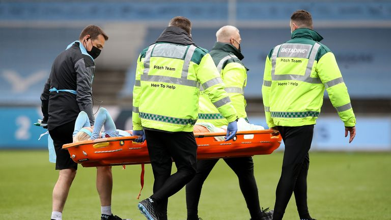 PA - Chloe Kelly was stretchered off