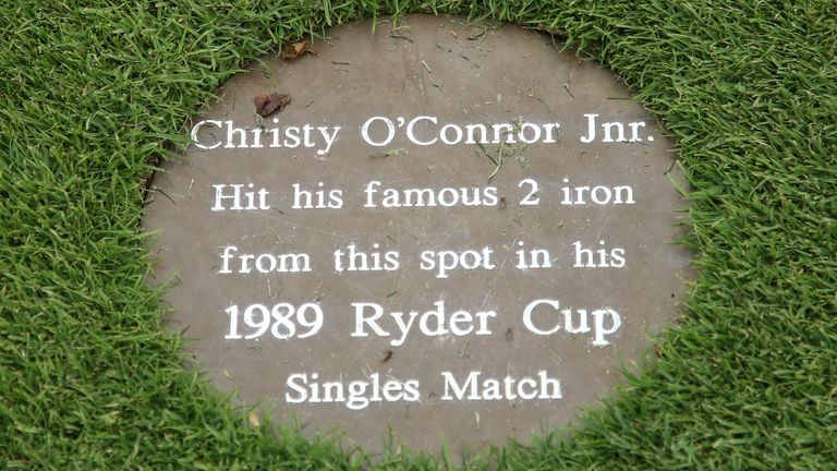 O'Connor's shot was recognised with a plaque in the fairway