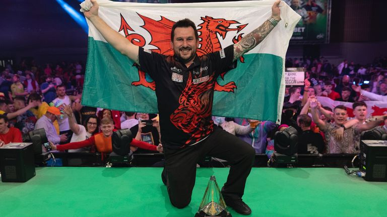 Jonny Clayton won the Masters title behind closed doors in January, but his Premier League triumph was seen by 1,000 fans in Milton Keynes