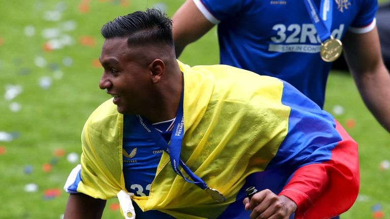 Alfredo Morelos joined up with Colombia on the back of securing the SPL title with Rangers and so far has ten caps for his country.