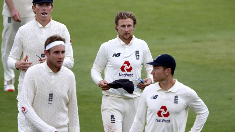 Bracey (right) featured as a substitute outfielder during England's home Test series in 2020