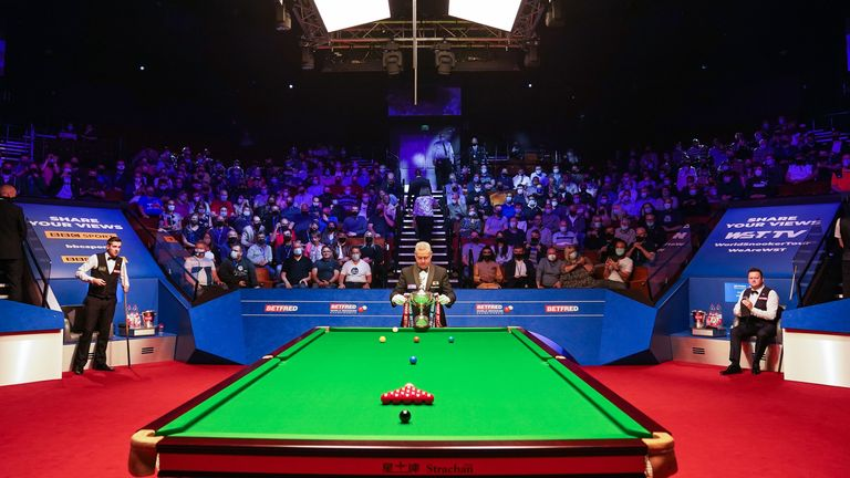 PA - GV shot of fans at the World Snooker Championship final