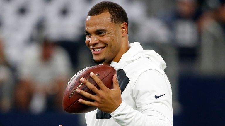 Prescott was leading the NFL with 1,856 passing yards when he was injured.