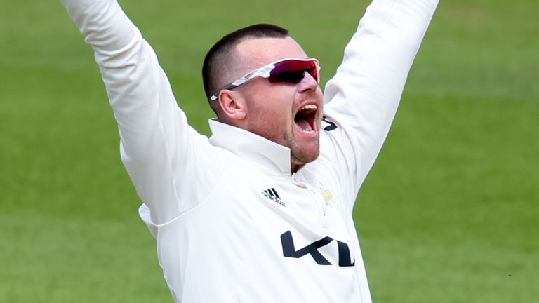 Surrey spinner Daniel Moriarty took six wickets in Gloucestershire's first innings at The Kia Oval