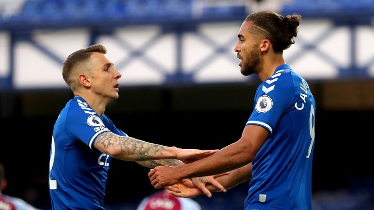 Dominic Calvert-Lewin powered Everton level with his header