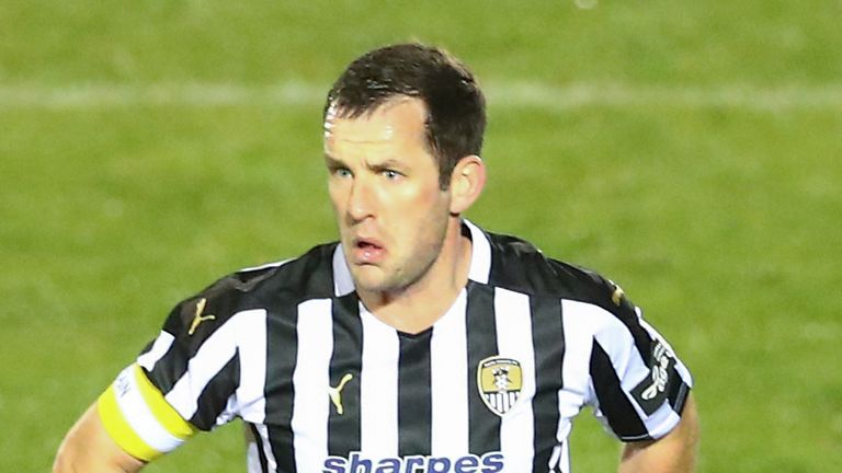 Michael Doyle of Notts County during the Vanarama National League match between Dagenham and Redbridge and Notts County at Chigwell Construction Stadium on December 02, 2020 in Dagenham,