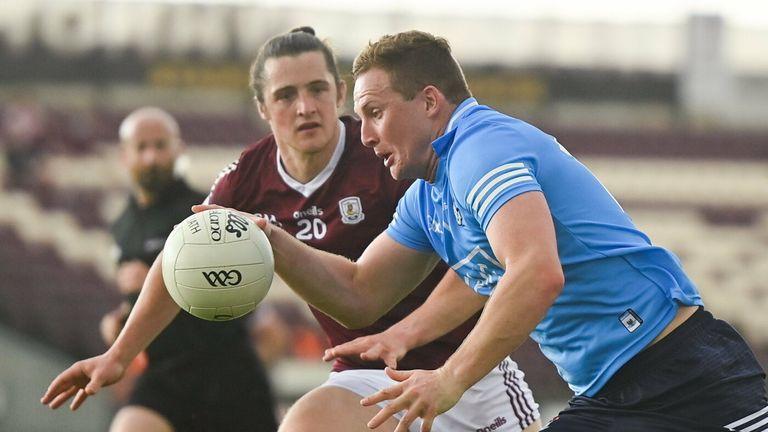 Ciarán Kilkenny of Dublin in action against Kieran Molloy of Galway