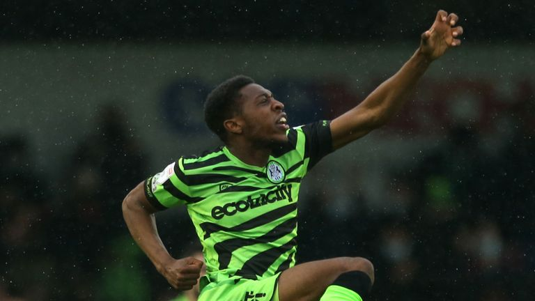 Ebou Adams gave Forest Green the lead on the night after seven minutes