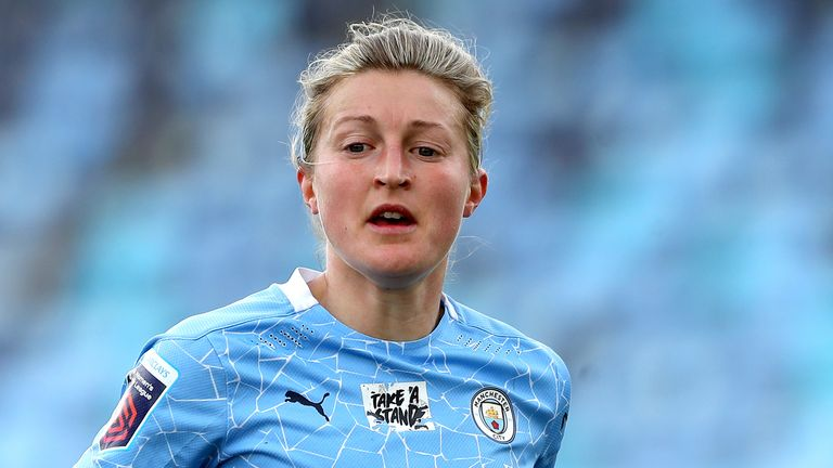Manchester City forward Ellen White has signed a new two-year deal at the club
