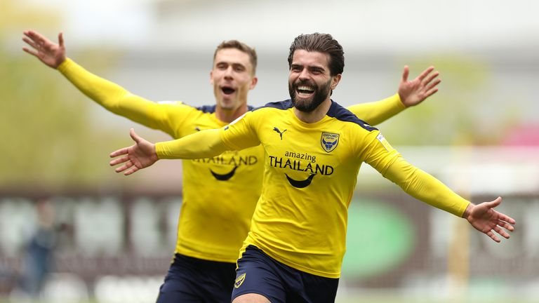 Oxford will play Blackpool over two legs in the League One play-off semi-finals