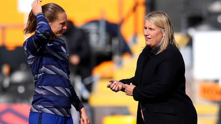 Emma Hayes' Chelsea Women side will be WSL champions if they beat Reading on Sunday