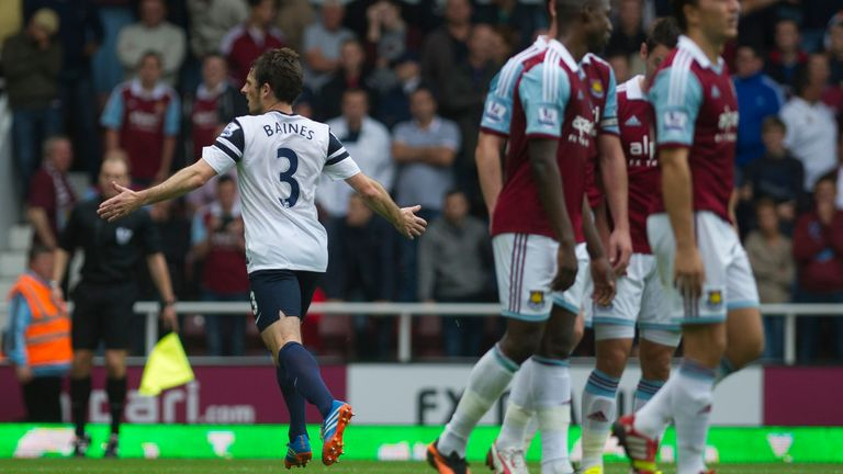 Leighton Baines memorably scored two free-kicks against West Ham in 2013