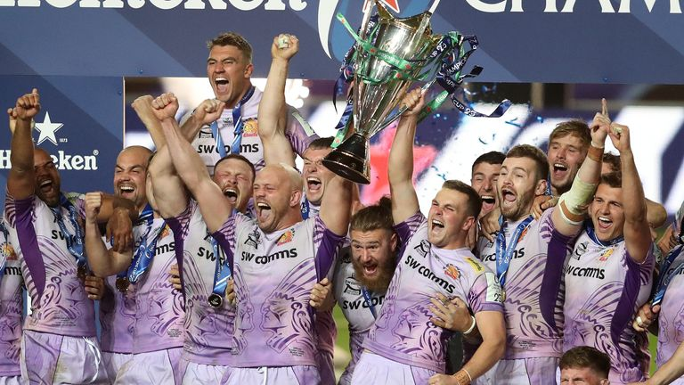 The competition's most-recent winners are Exeter Chiefs, after their stunning defeat of Racing 92 last year behind closed doors