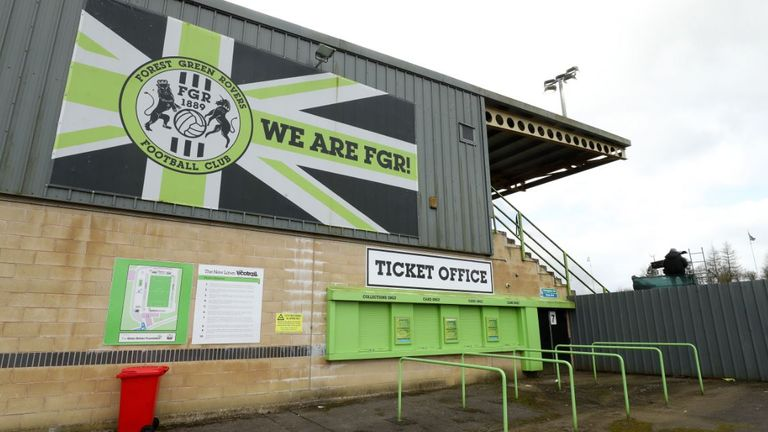 Forest Green Rovers play at The innocent New Lawn Stadium