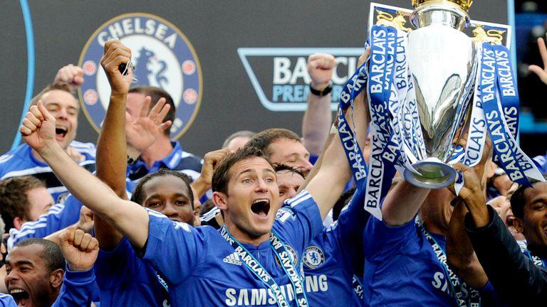 Frank Lampard won three Premier League titles at Chelsea