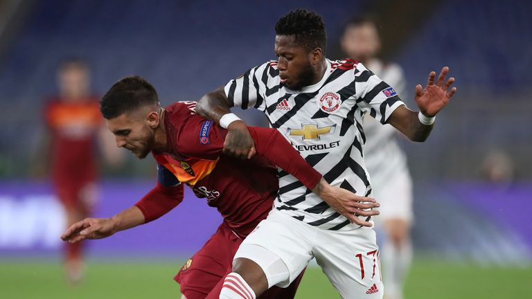 Fred impressed in midfield at the Stadio Olimpico