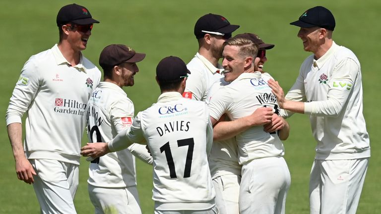 Lancashire's bowlers ran riot early on against Yorkshire at Emirates Old Trafford