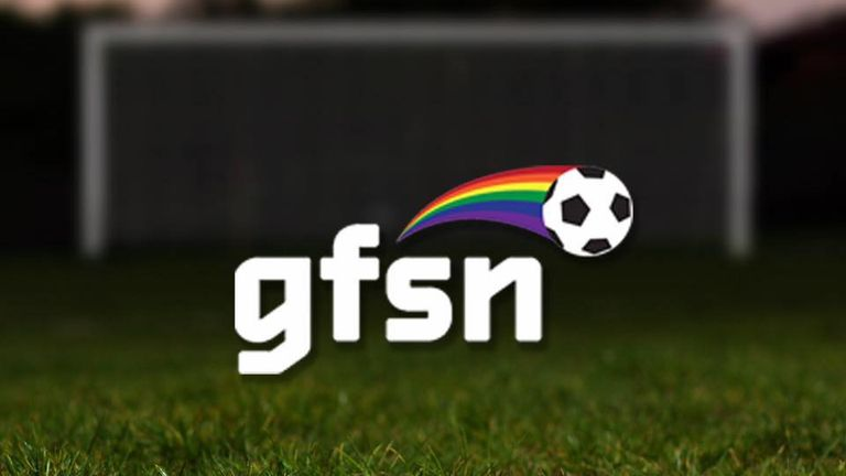 GFSN logo, football, gay football supporters network