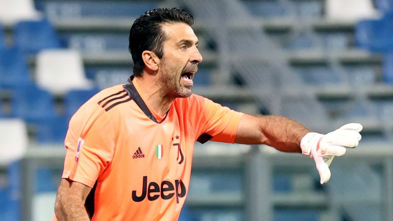 Gianluigi Buffon played in goal after announcing this week that he is leaving Juventus at the end of the season