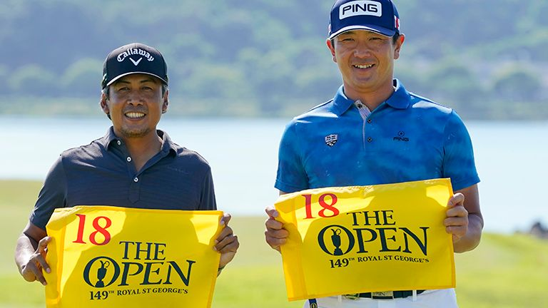 Juvic Pagunsan (L) of the Philippines and Ryutaro Nagano (R) of Japan qualified for The 149th Open with their finishes at the Mizuno Open