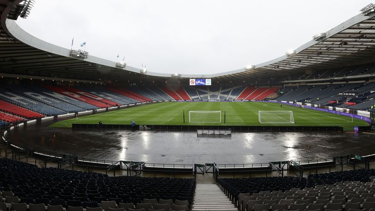 Hampden Park will be able to admit 300 fans from each side for the Scottish Cup final