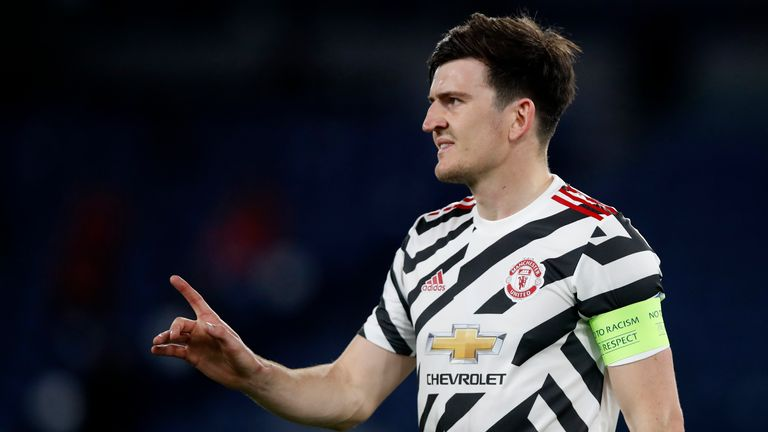 Harry Maguire played the full 90 minutes in Rome