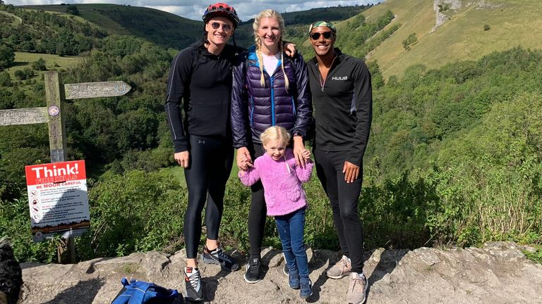 Needs and ex-wife Becky Adlington have a five-year-old daughter, with godfather Gunning lending a hand with childcare - and even home schooling