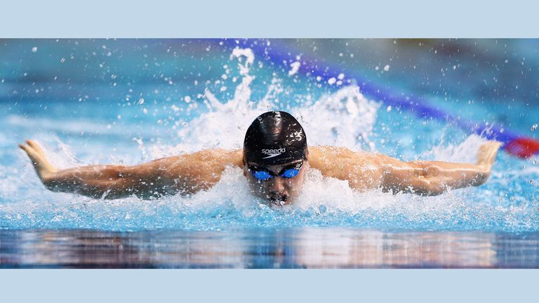 Needs also swam butterfly during his competitive swimming career representing Great Britain