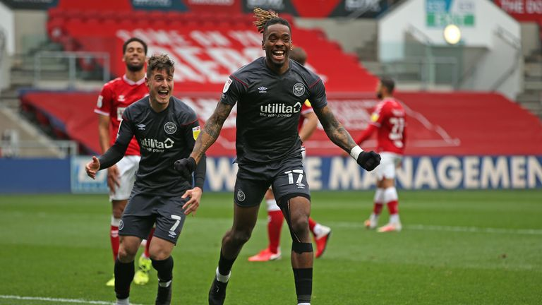 Toney scored his 31st goal of the season in Brentford's final day victory over Bristol City at Ashton Gate