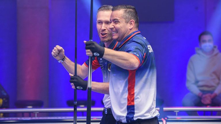 Slovakia's Jakub Koniar (left) and Jaroslav Polach are through to face Britain for a place in the final