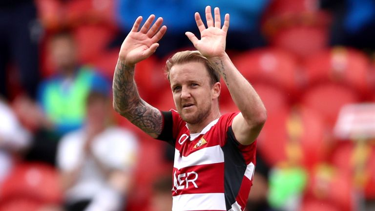 Coppinger made his final appearance in a Doncaster shirt in their final day defeat to Peterborough at the Keepmoat Stadium