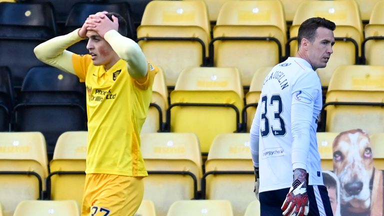 Jaze Kabia missed two glorious chances for Livingston in the second half
