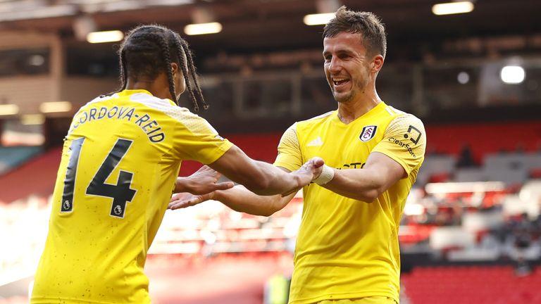 Fulham's Joe Bryan celebrates his equaliser