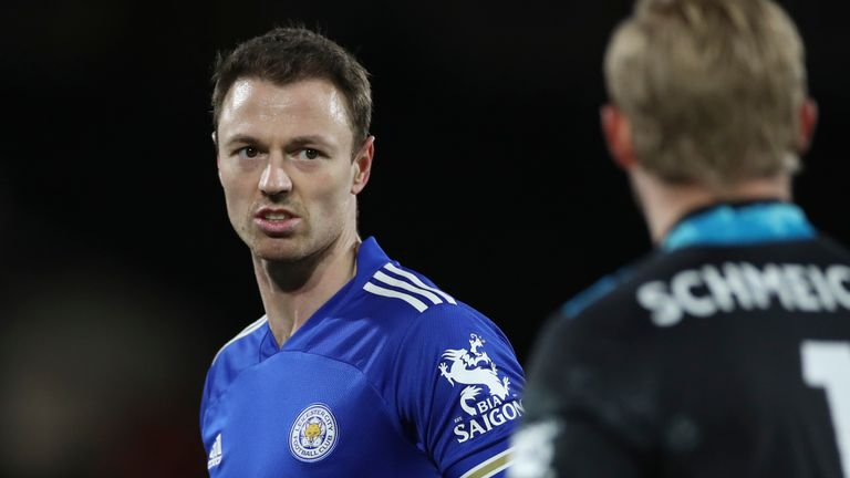 Jonny Evans has been recovering from a heel injury and missed Tuesday's win at Manchester United