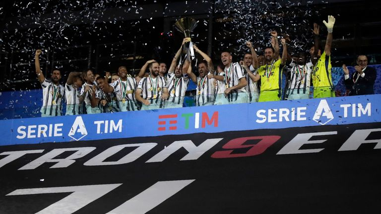 Juventus won Serie A last season but have since relinquished the title to Inter