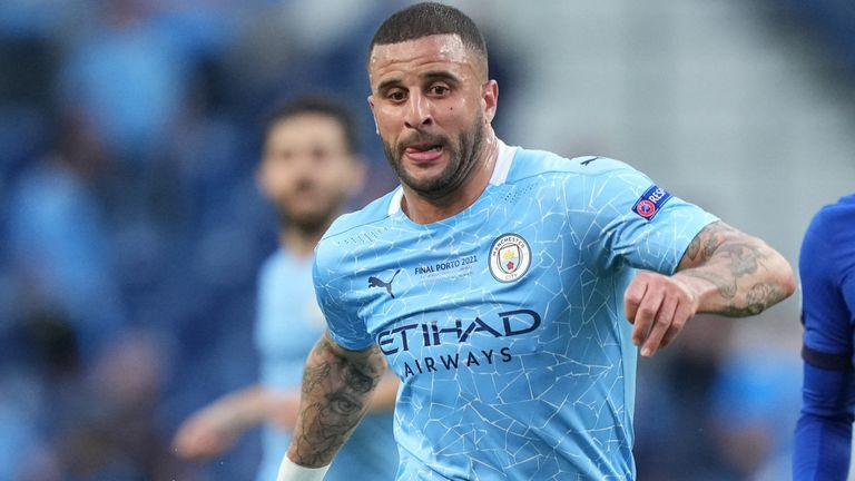 Kyle Walker received racist abuse online after the Champions League final
