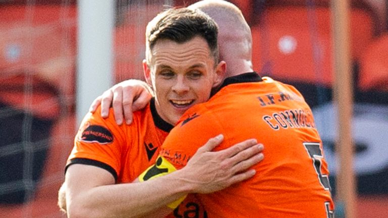 Lawrence Shankland put Dundee United ahead in the first half