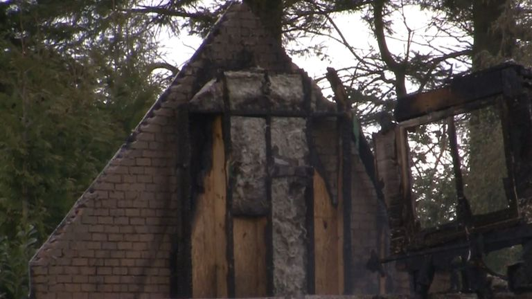 The fire caused significant damage to Lawwell's home