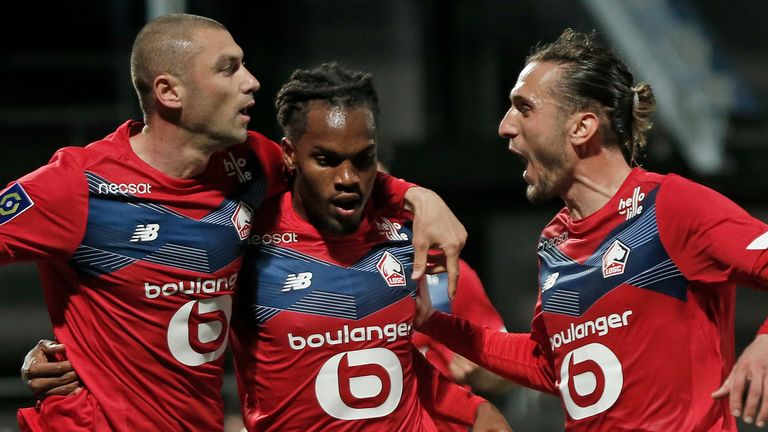 Lille won the Ligue 1 title with victory against Angers on Sunday