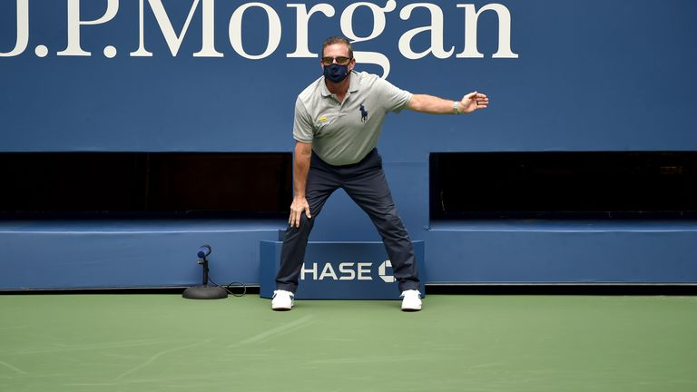 The US Open will be played entirely without line judges (Andrew Ong/USTA via AP)