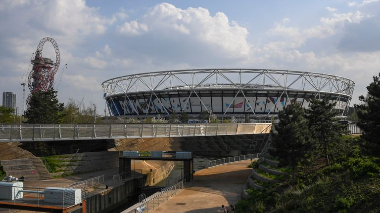 General view of the Olympic Stadium and the Olympic park (AP)