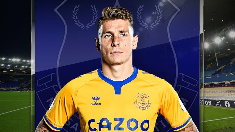 Everton full-back Lucas Digne spoke exclusively to Sky Sports
