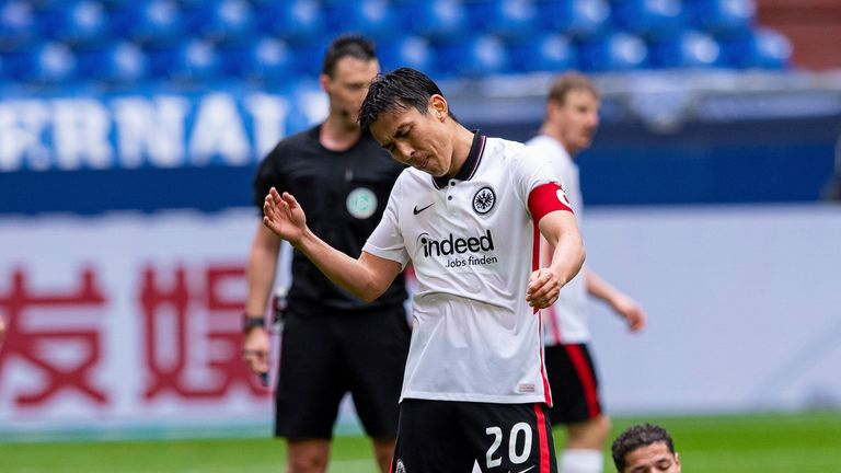 Makoto Hasebe shows his frustration after a missed opportunity