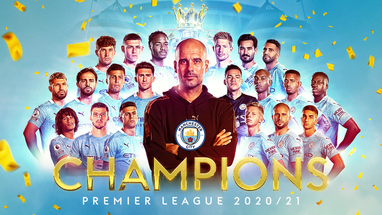Man City are the 2020/21 Premier League champions