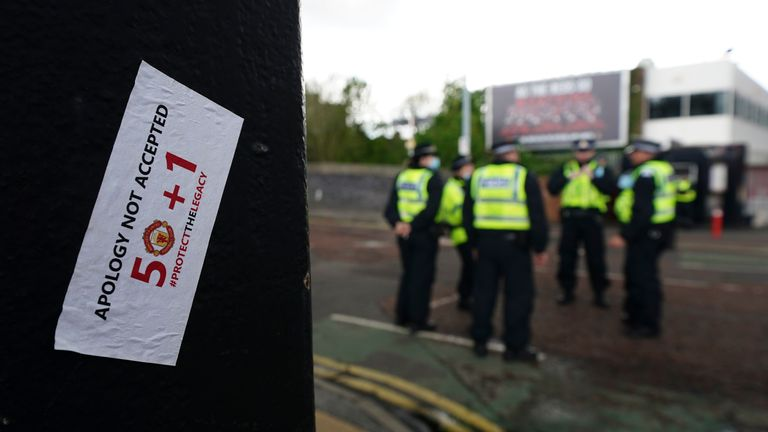 A man has been released on bail after being arrested following the protest at Old Trafford on May 2