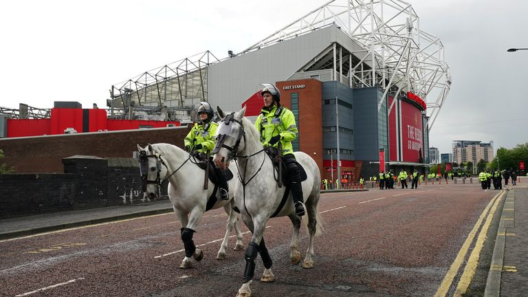 Manchester United have increased security at Old Trafford ahead of their re-arranged game with Liverpool in the Premier League