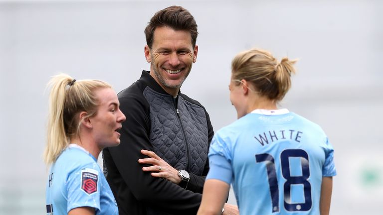 Manchester City forward Ellen White is full of praise for the work Gareth Taylor has done with the side
