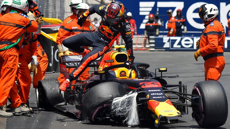 2018: This time a big chance of race victory went begging when Verstappen dropped it exiting the Swimming Pool chicane in final practice