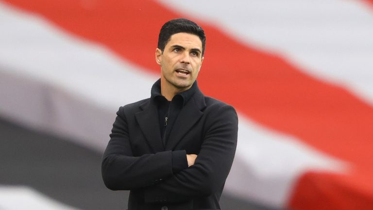 Mikel Arteta remains positive about his role in the rebuilding of Arsenal